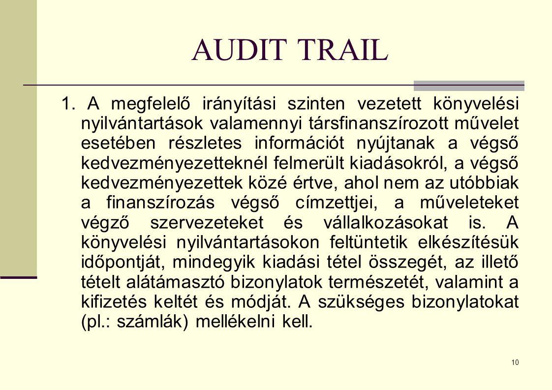 10 AUDIT TRAIL 1.