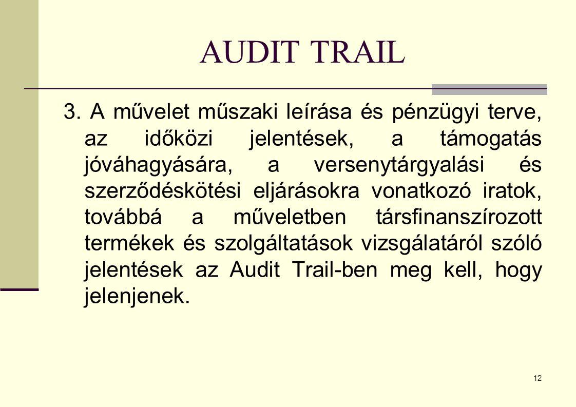 12 AUDIT TRAIL 3.
