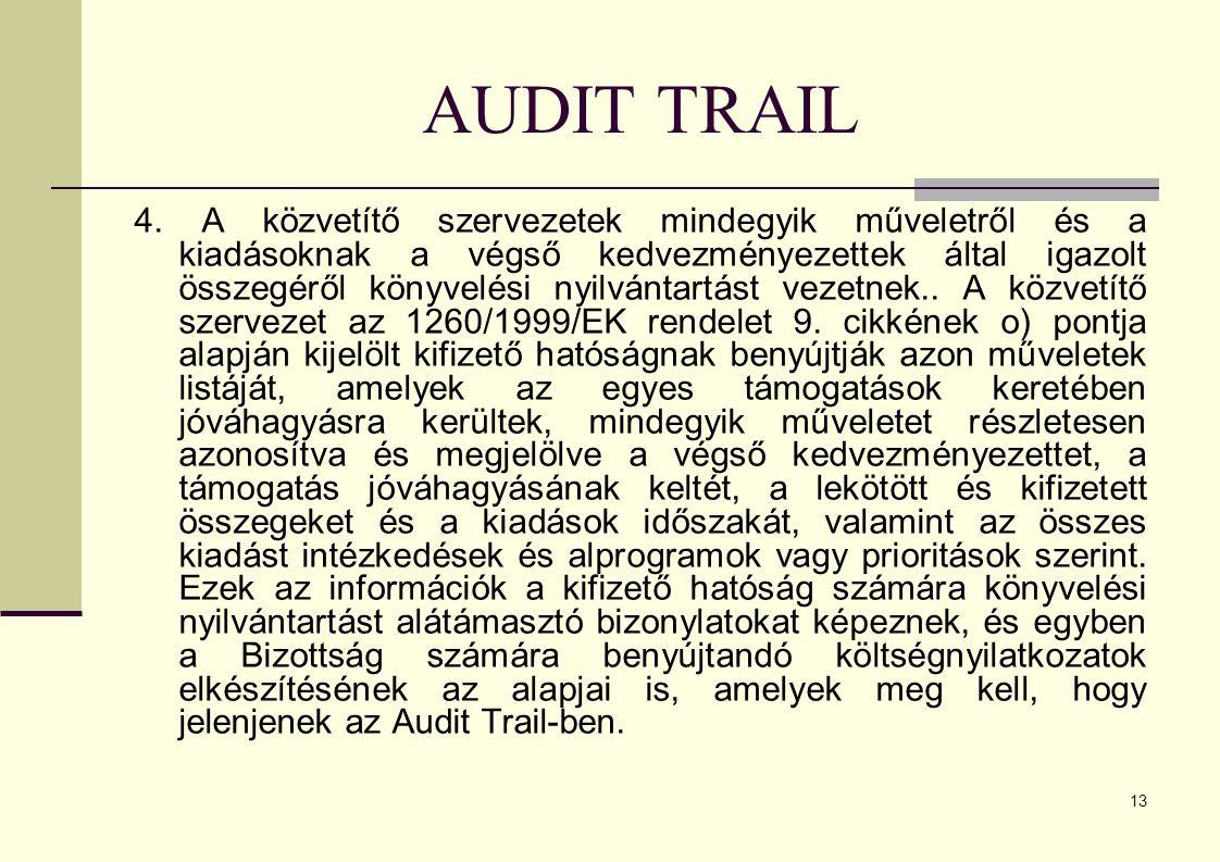 13 AUDIT TRAIL 4.