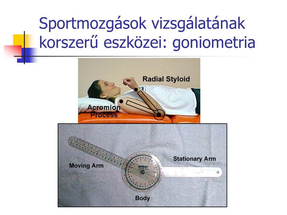 Sportmozgások vizsgálatának korszerű eszközei: goniometria
