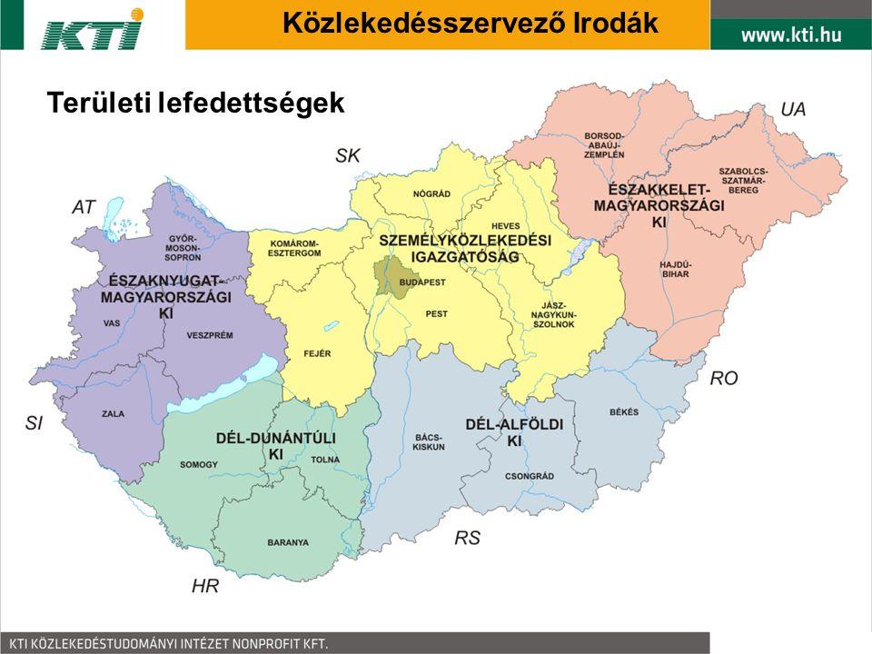 Közlekedésszervező Irodák Területi lefedettségek