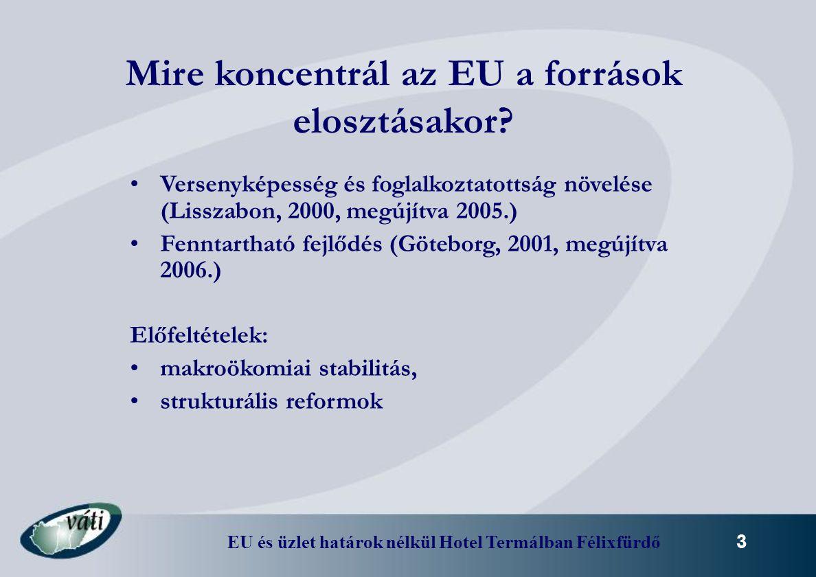 EU és üzlet határok nélkül Hotel Termálban Félixfürdő 14 Európai Területi Együttműködések keretében megvalósuló Határon Átnyúló Együttműködési Programok Magyarországon