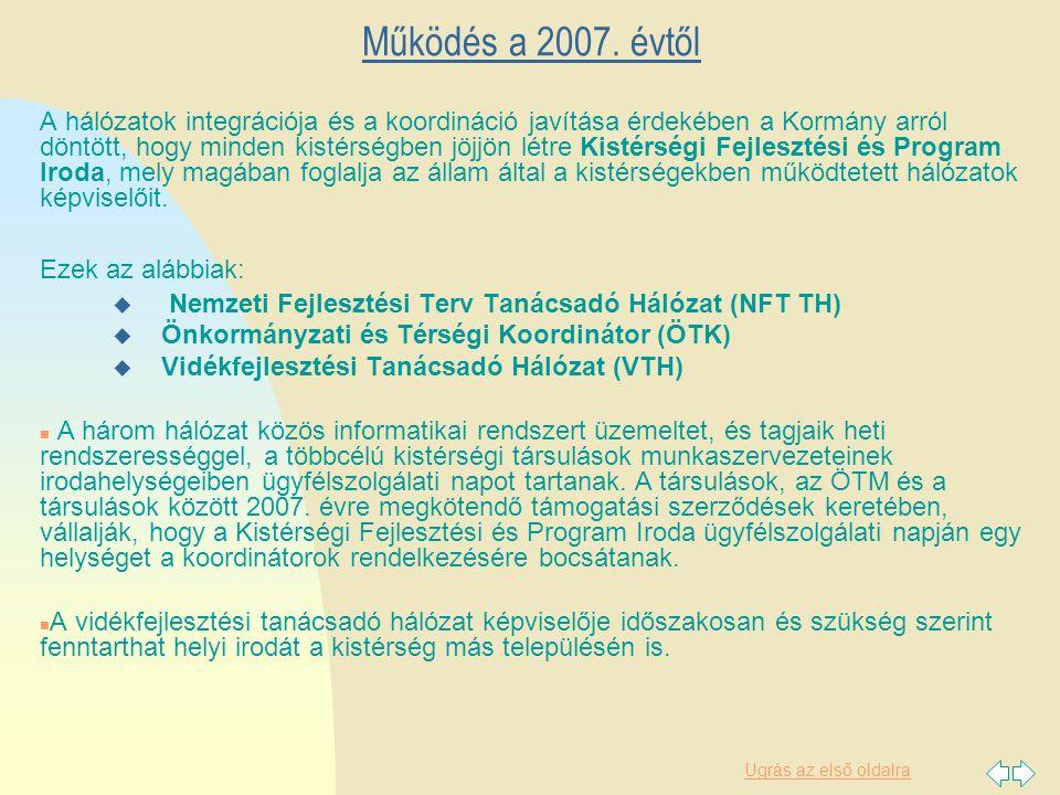 Ugrás az első oldalra Működés a 2007.
