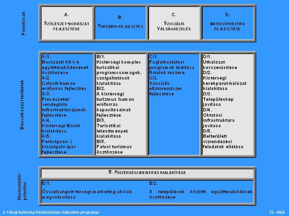 A Tokaji kistérség felzárkóztatási fejlesztési programja21. oldal