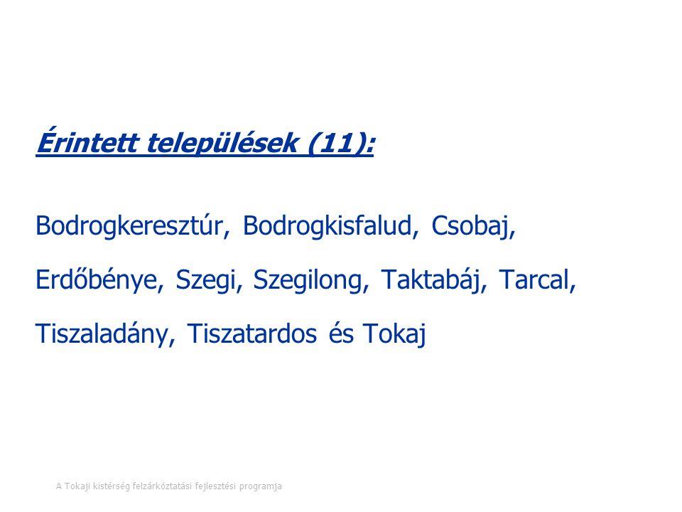 A programra vonatkozó legfontosabb információk Érintett települések (11): Bodrogkeresztúr, Bodrogkisfalud, Csobaj, Erdőbénye, Szegi, Szegilong, Taktab