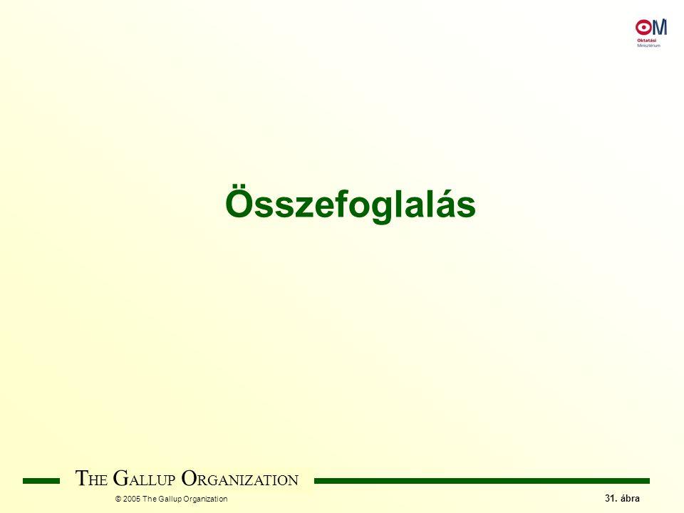 T HE G ALLUP O RGANIZATION © 2005 The Gallup Organization 31. ábra Összefoglalás