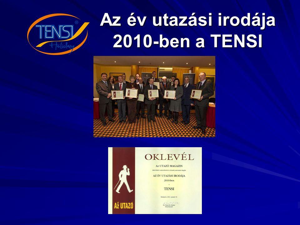 Az év utazási irodája 2010-ben a TENSI