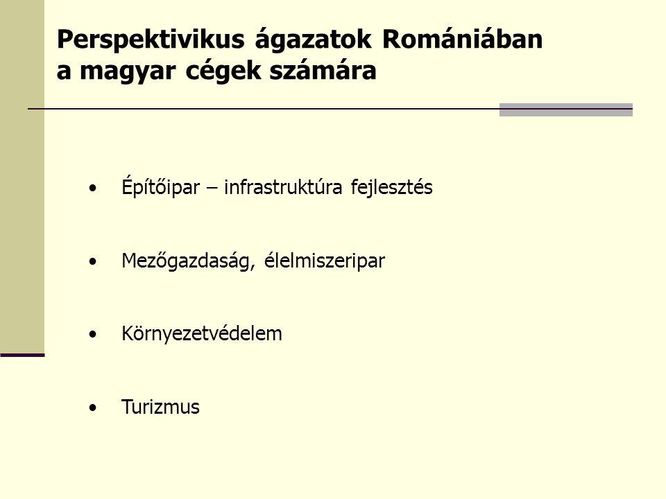 A Kereskedelmi Iroda gazdasági kapcsolatokat segítő tevékenysége Általános tájékoztatás, figyelemfelkeltés rendezvények, sajtó, honlap, hírlevelek útján Tanácsadás a fogadó ország gazdaságáról, piacáról, kereskedelmi és befektetési lehetőségekről Segítség a vállalat-alapítási ügymenetben Felvilágosítás a magyarországi és a helyi támogatási, forrás- szerzési lehetőségekről Együttműködés az EXIMBANK-kal, MEHIB-bel Az induló vállalkozás segítése partner-közvetítéssel, piaci információkkal Együttműködés a már Romániában működő cégekkel