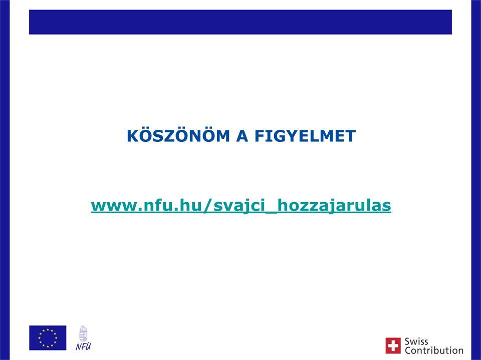 12 KÖSZÖNÖM A FIGYELMET www.nfu.hu/svajci_hozzajarulas
