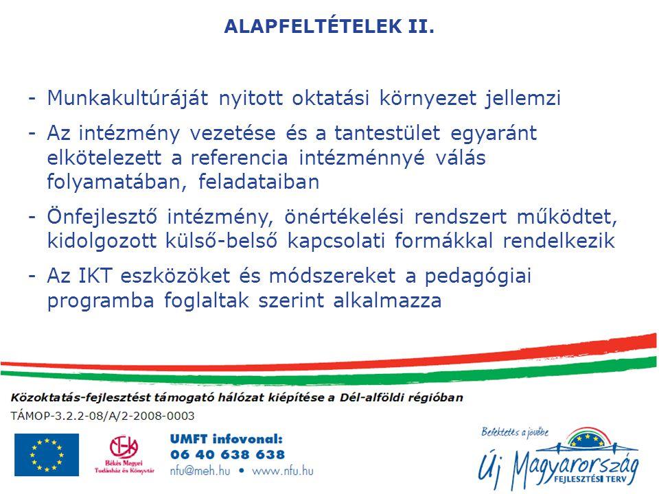 ALAPFELTÉTELEK II.