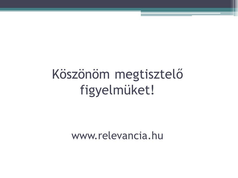 Köszönöm megtisztelő figyelmüket! www.relevancia.hu
