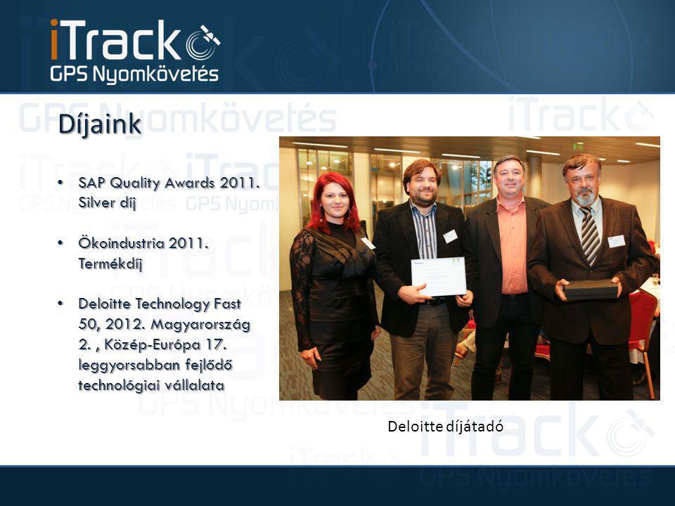 Díjaink SAP Quality Awards 2011. Silver díj SAP Quality Awards 2011. Silver díj Ökoindustria 2011. Termékdíj Ökoindustria 2011. Termékdíj Deloitte Tec