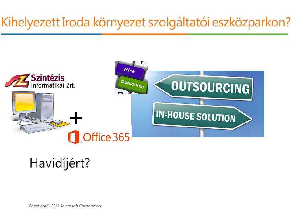   Copyright© 2011 Microsoft Corporation Kihelyezett Iroda környezet szolgáltatói eszközparkon?