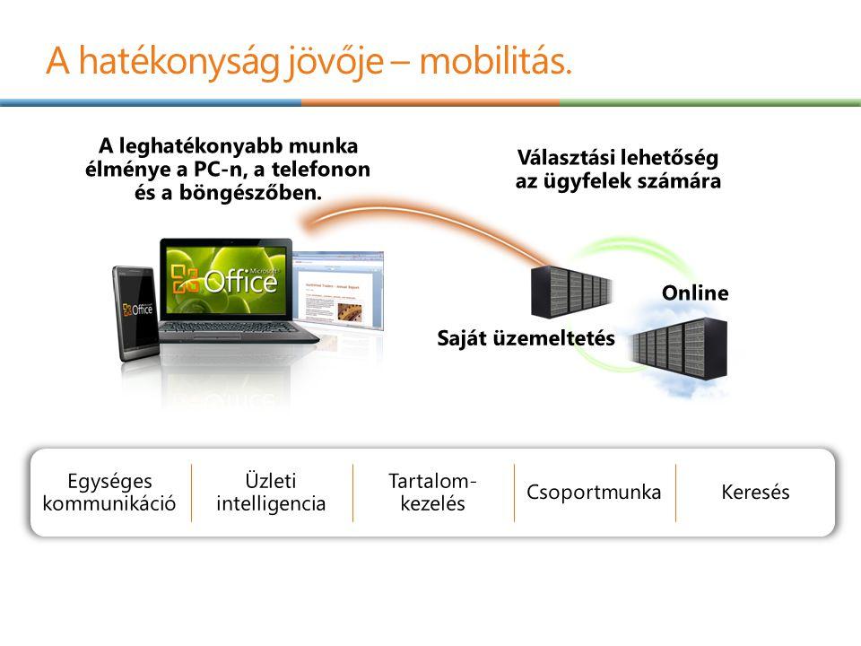 A hatékonyság jövője – mobilitás.