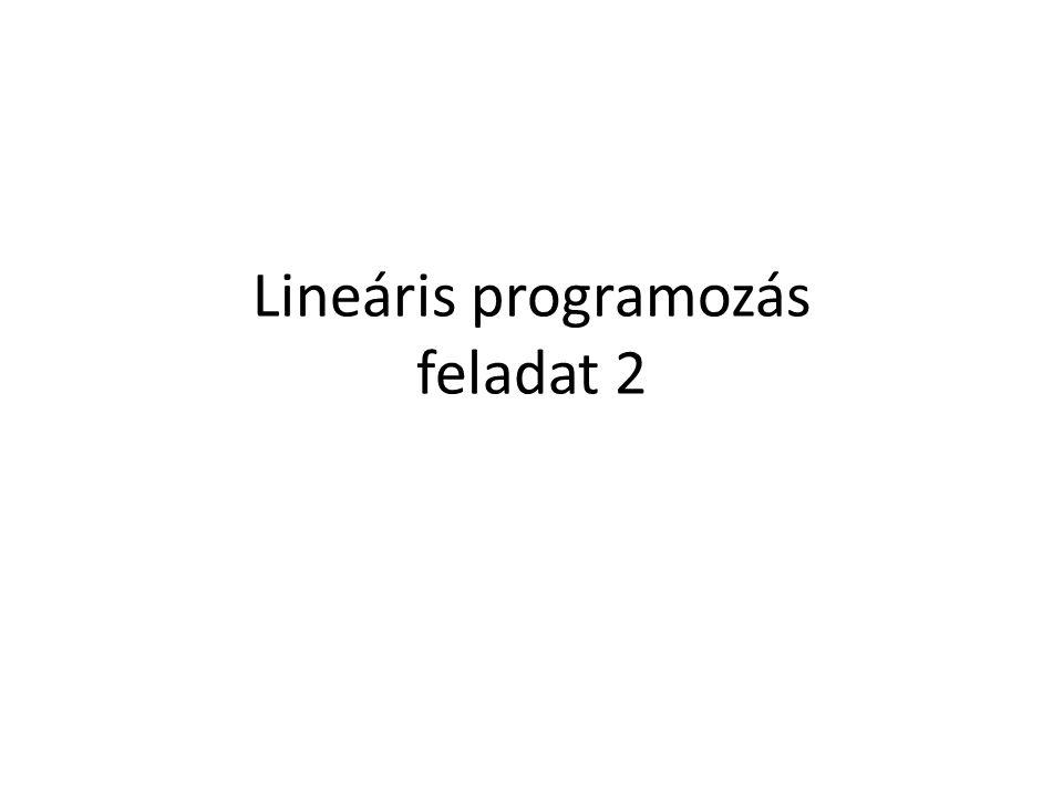 Lineáris programozás feladat 2