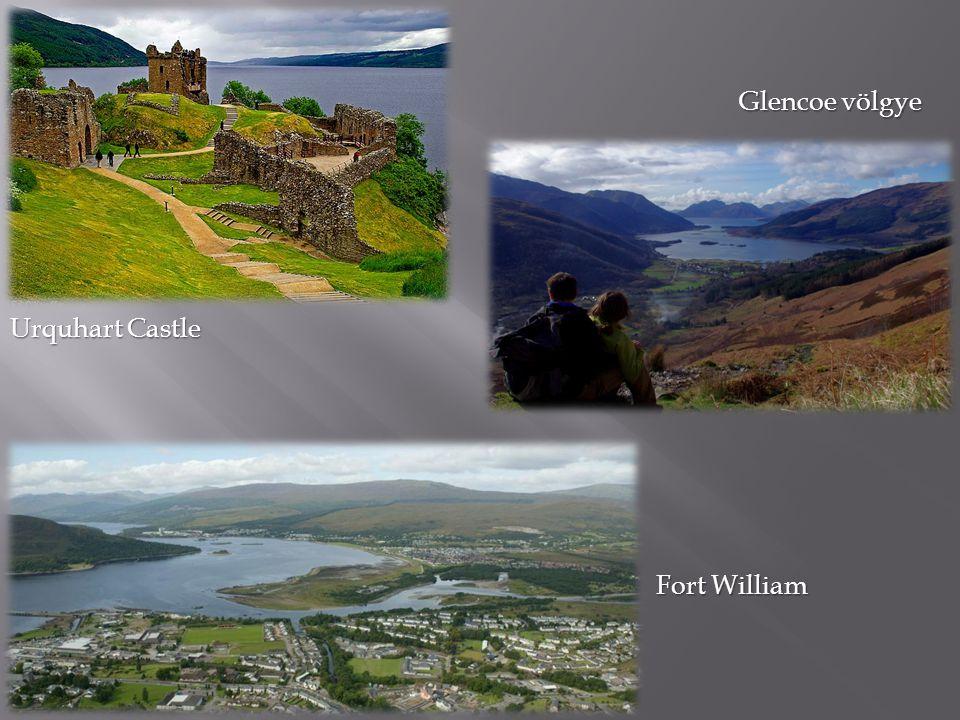 Urquhart Castle Glencoe völgye Fort William