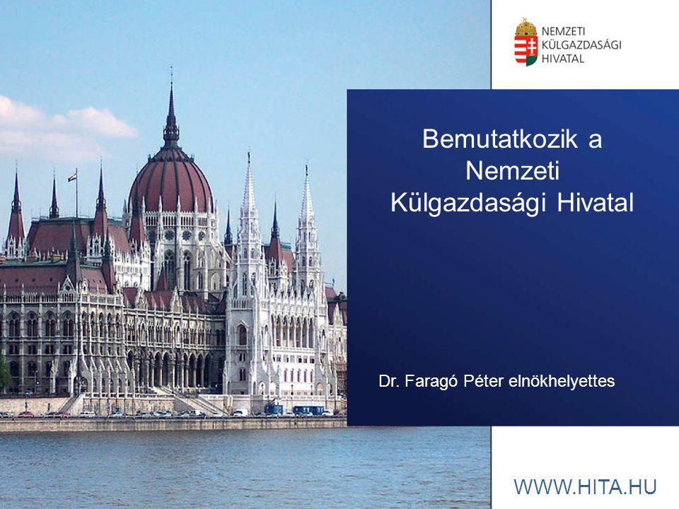 WWW.HITA.HU Bemutatkozik a Nemzeti Külgazdasági Hivatal Dr. Faragó Péter elnökhelyettes