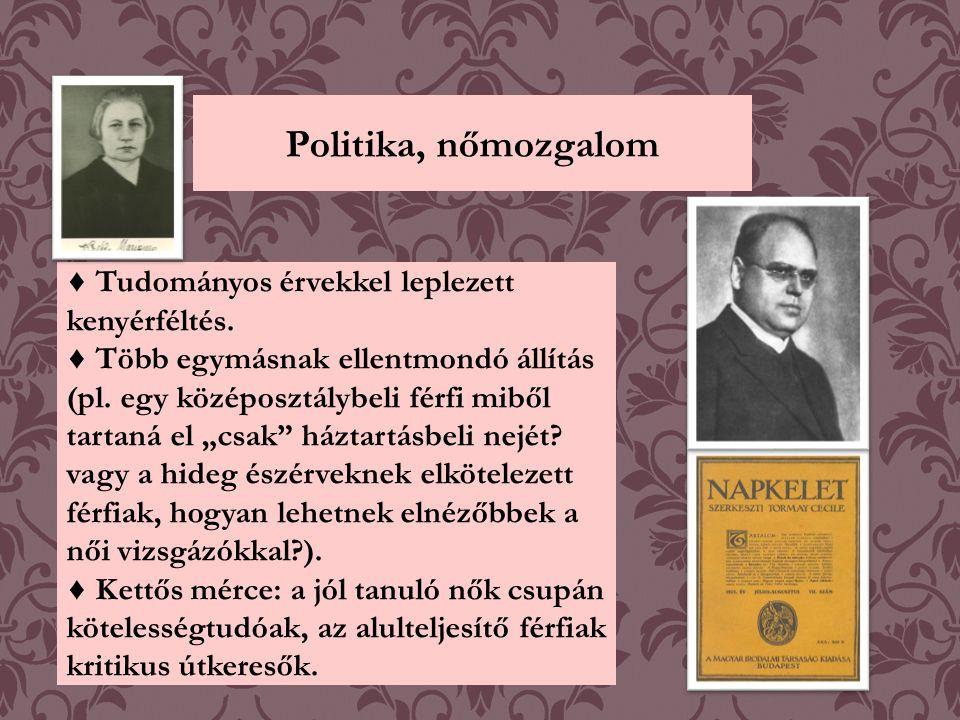 Politika, nőmozgalom ♦ 1925.