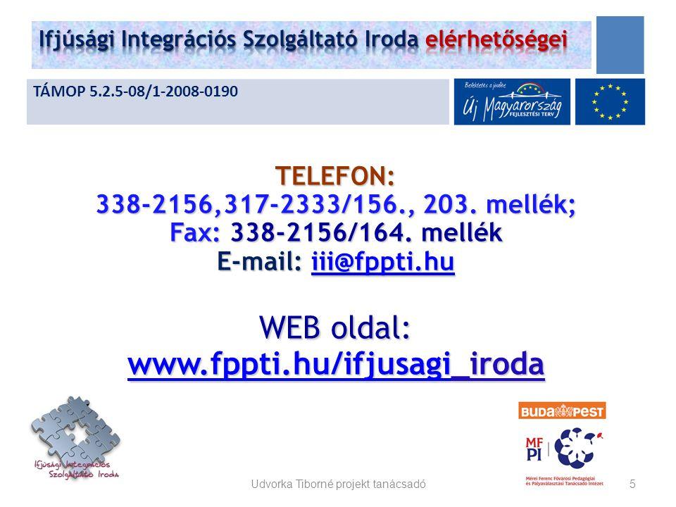 TELEFON: 338-2156,317-2333/156., 203. mellék; Fax: 338-2156/164.