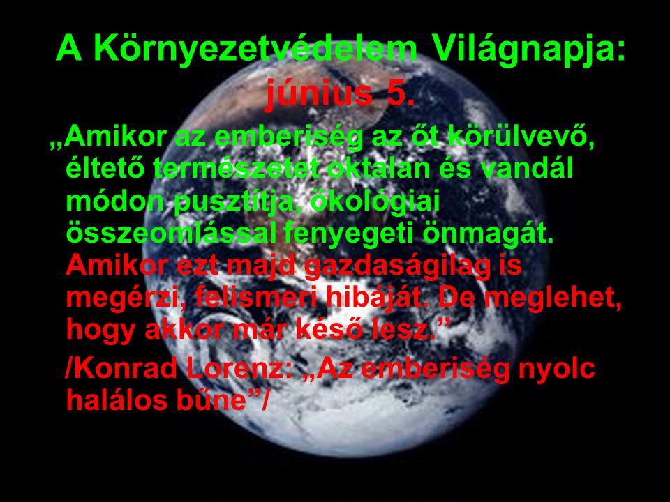 Dunaújváros környezeti állapotának rövid bemutatása A korábbi évek mérései alapján a 4/2002.