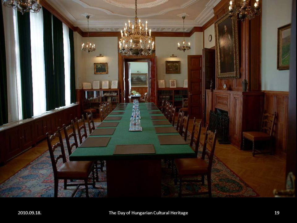 2010.09.18.The Day of Hungarian Cultural Heritage18 A miniszter (ma: Martonyi János) dolgozószobája