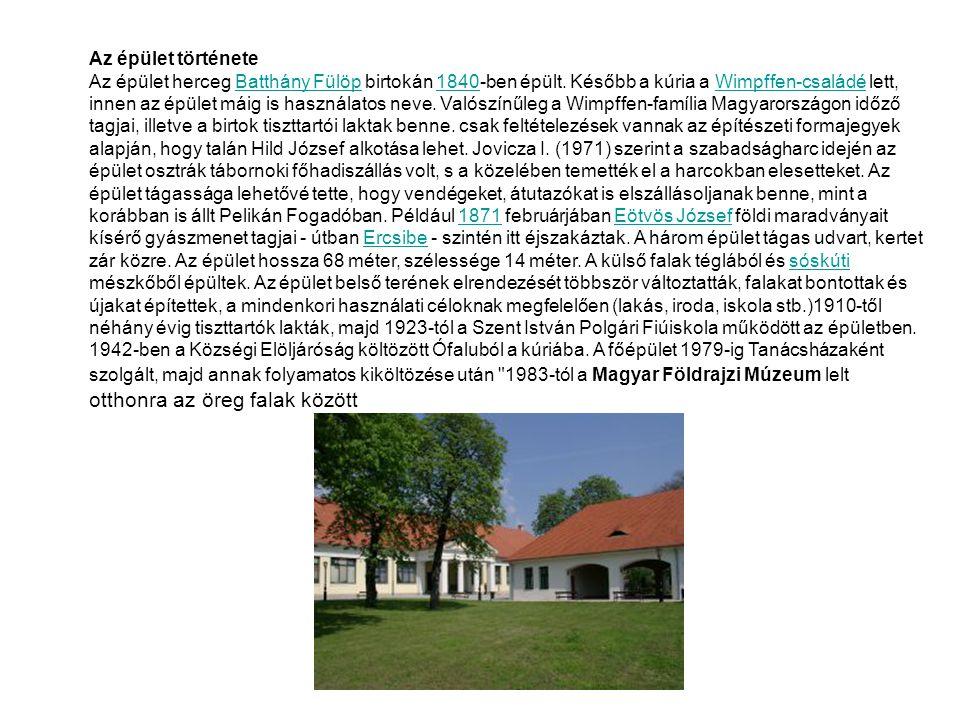Az épület története Az épület herceg Batthány Fülöp birtokán 1840-ben épült.