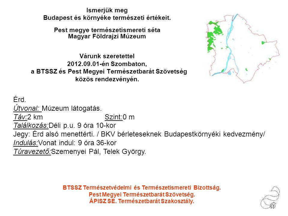 Ismerjük meg Budapest és környéke természeti értékeit.