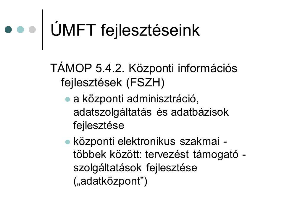 ÚMFT fejlesztéseink TÁMOP 5.4.2.