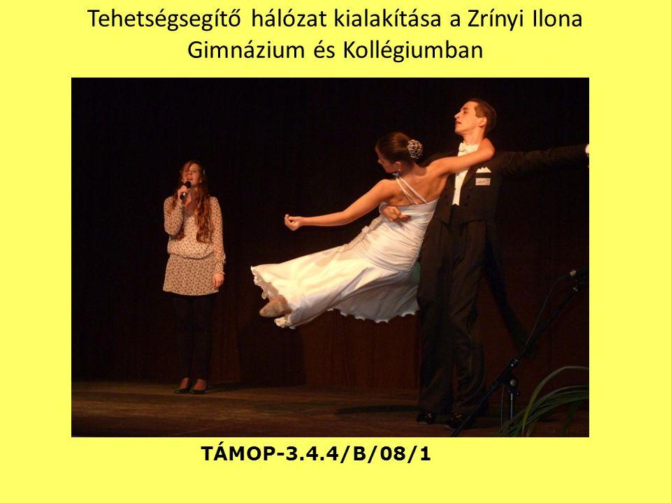 Tehetségsegítő hálózat kialakítása a Zrínyi Ilona Gimnázium és Kollégiumban TÁMOP-3.4.4/B/08/1