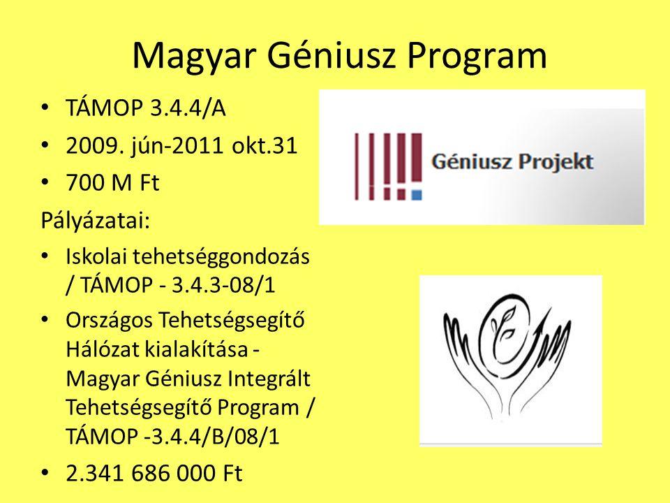 Magyar Géniusz Program TÁMOP 3.4.4/A 2009.