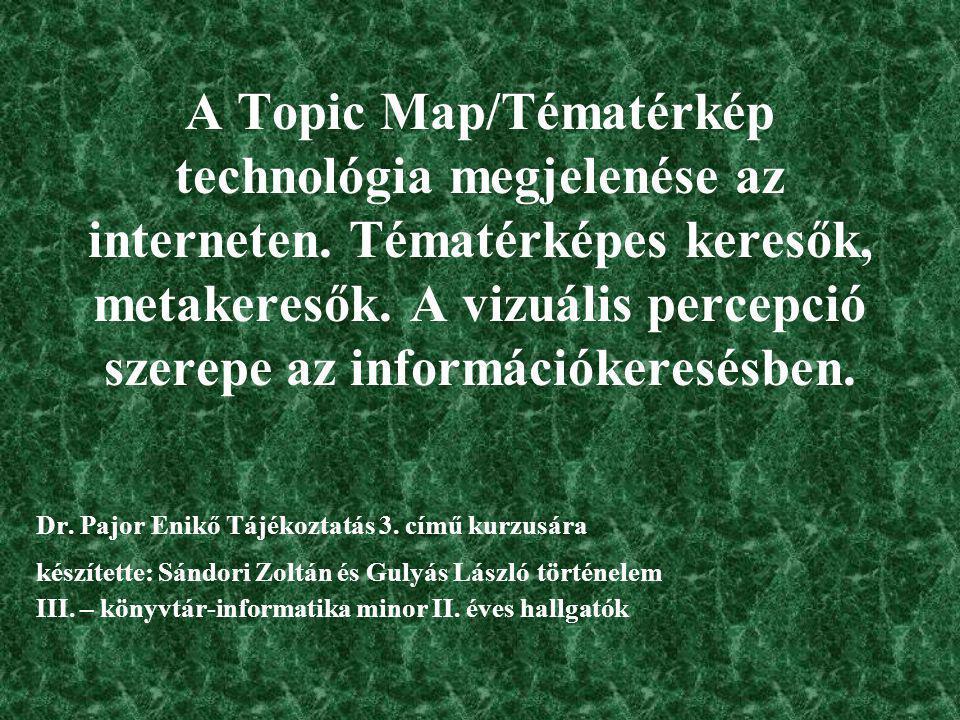 Bibliográfia és webográfia Baráthné, Hajdú Ágnes: A percepció és megjelenítés jelentősége az információkereső nyelvekben.