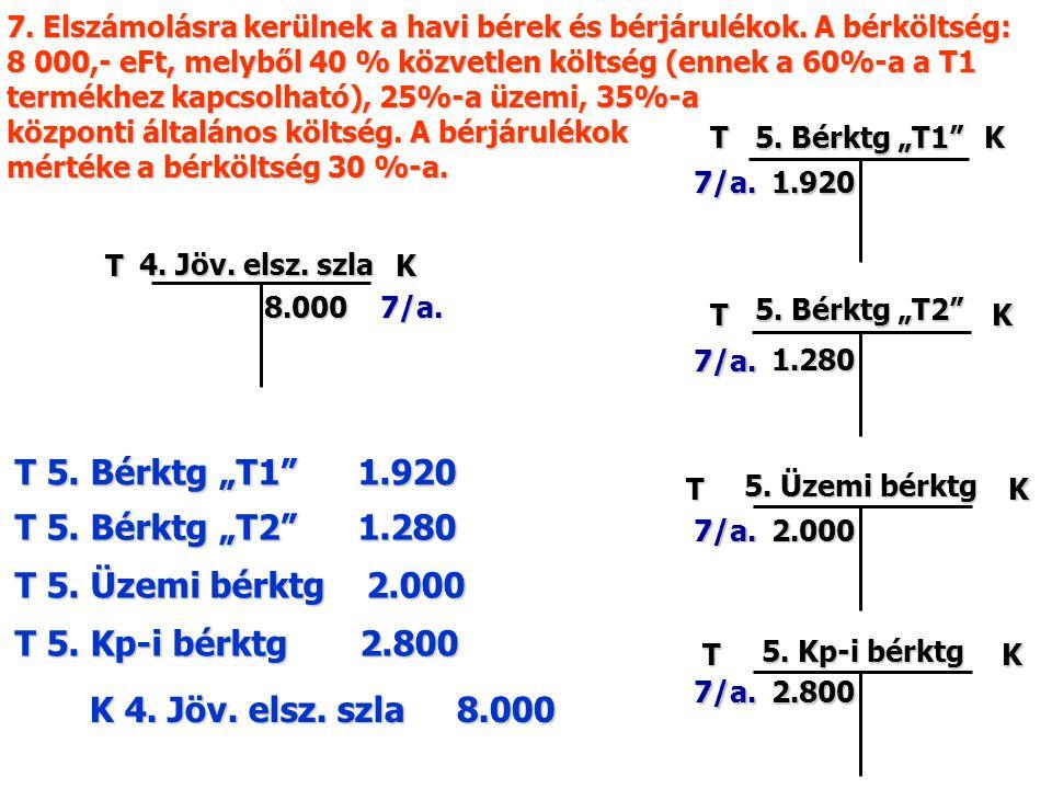 "TK 5. Bérktg ""T2 T K 5. Kp-i bérktg TK T 5. Bérktg ""T2 1.280 K 4."
