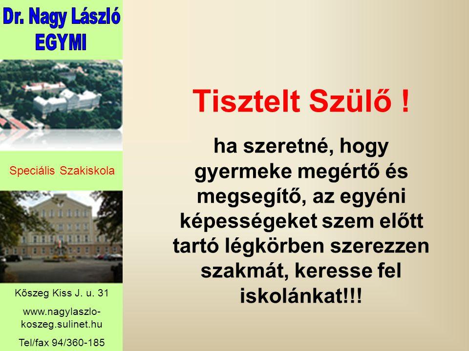 Speciális Szakiskola Kőszeg Kiss J. u.