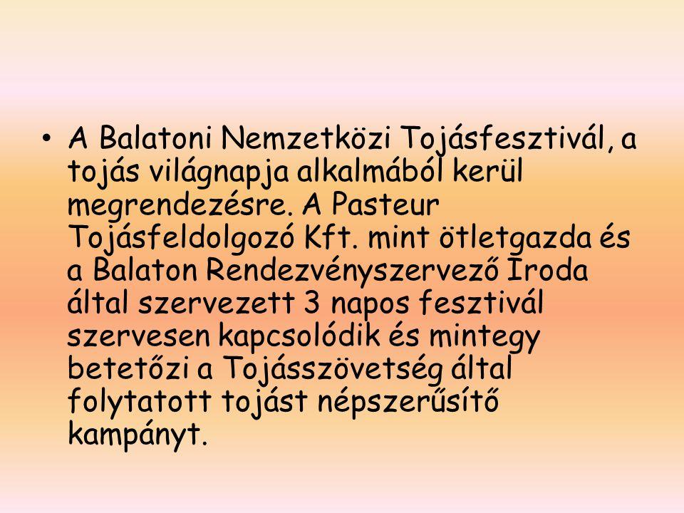 A Balatoni Nemzetközi Tojásfesztivál, a tojás világnapja alkalmából kerül megrendezésre.