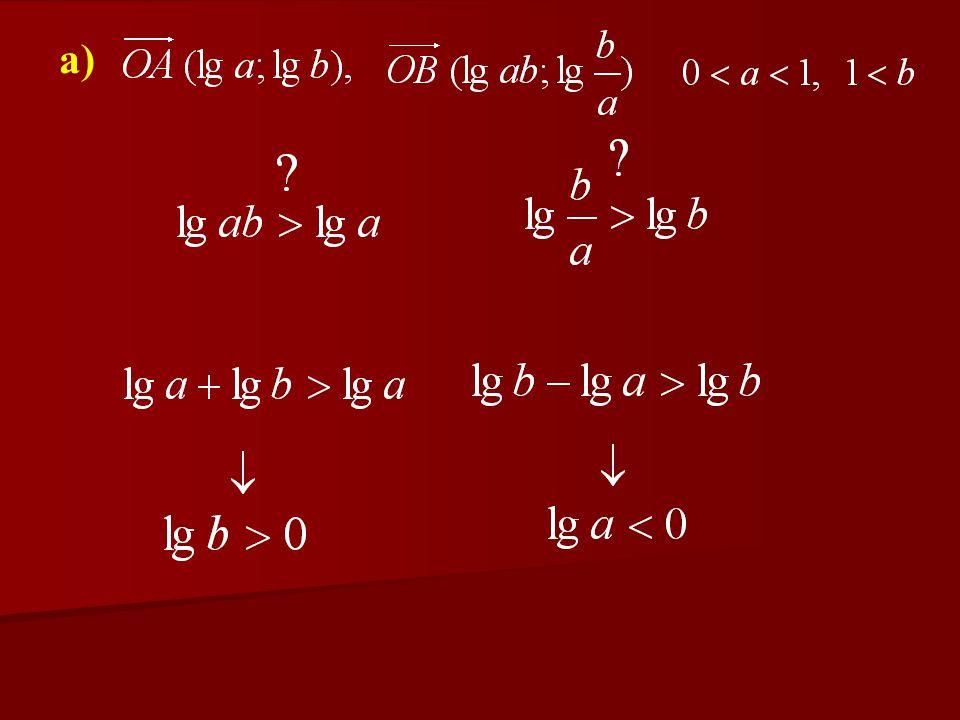 a) Bizonyítsa be, hogy a B pont mindkét koor- dinátája nagyobb az A pont megfelelő koor- dinátáinál.