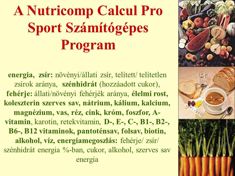 Étkezési szokások változása ÖSSZEGZÉS Már az 1985/88-as vizsgálat megállapítása sok vitamin és ásványi anyag bevitelében hiányosságot mutat. Az 1997 ő
