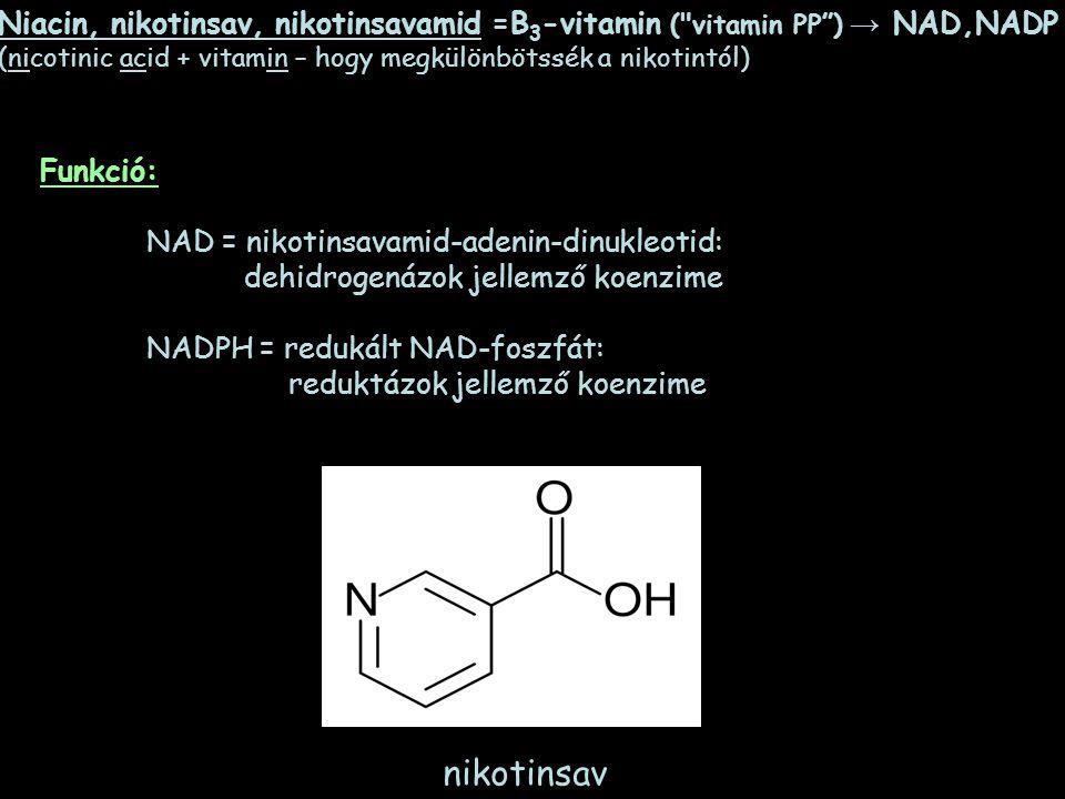 Niacin, nikotinsav, nikotinsavamid =B 3 -vitamin (