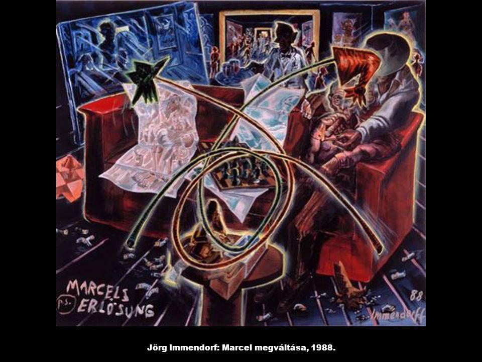 Jörg Immendorf: Marcel megváltása, 1988.