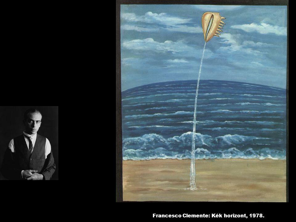 Francesco Clemente: Kék horizont, 1978.
