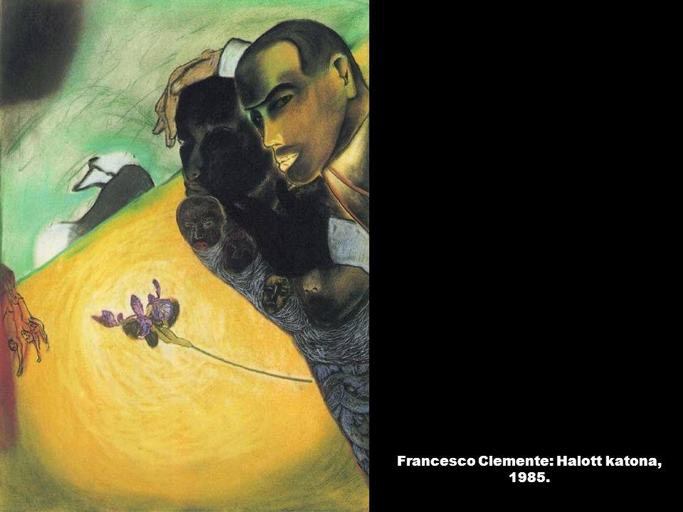 Francesco Clemente: Halott katona, 1985.