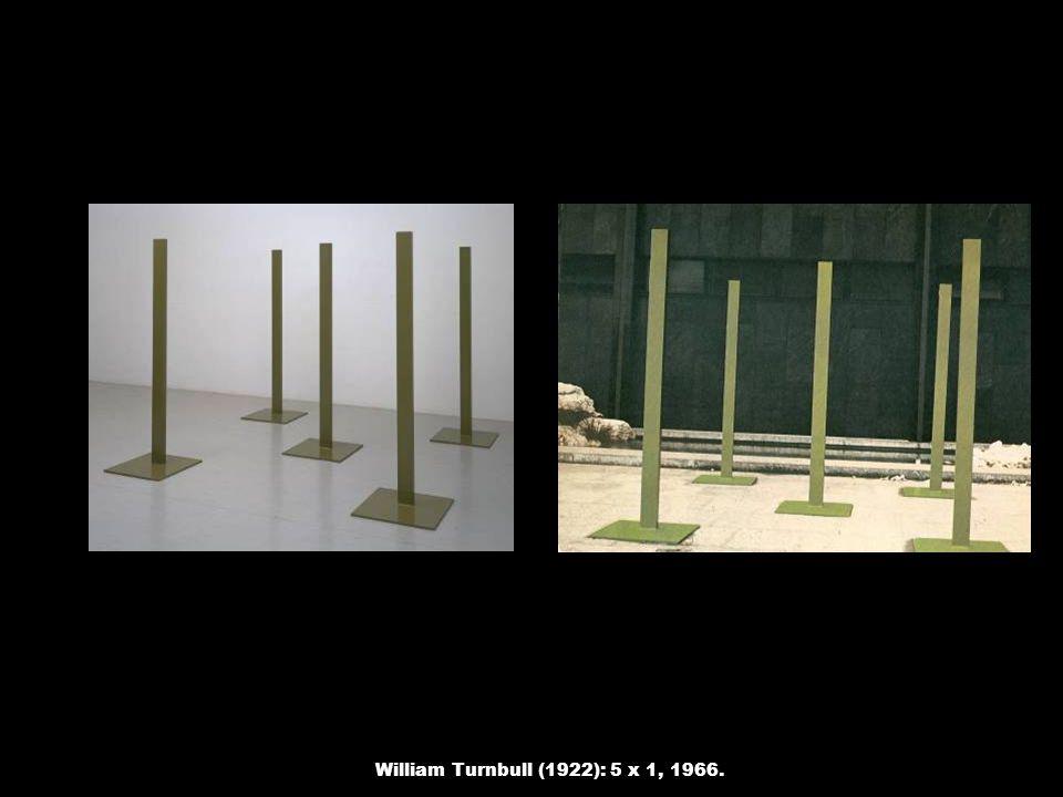 William Turnbull (1922): 5 x 1, 1966.