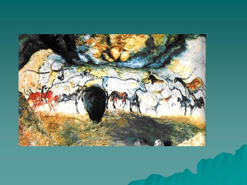 1. A barlangrajzok - keletkezés: kb. 30 ezer évvel ezelőtt - funkciója: ismeretátadás rítuálék formájában -Mas d' Azili kavicsok