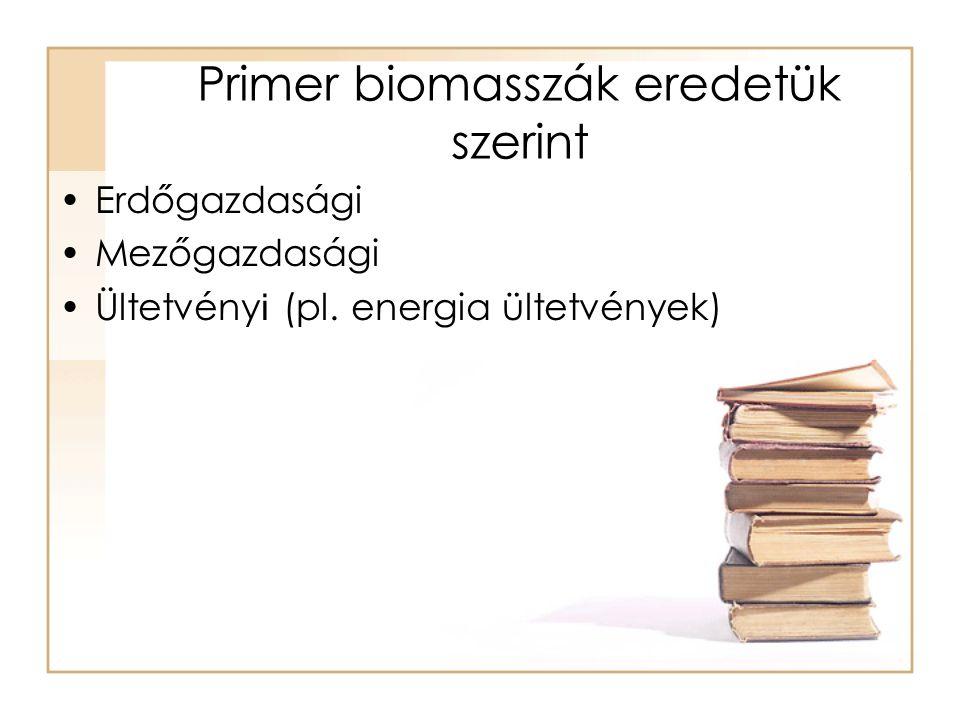 Energetikai ültetvények Teljes lignocellulóz produktum energetikai hasznosításra kerül  Lágyszárú növények Egynyáriak (energiakender, triticale stb.) Évelők (energiafű és nád)  Fás-szárúak Faültetvények Cserjék (energia fűz stb.) Nemesített fa(nemesnyár stb.) Energiaerdő gyorsan növő fafajokkal (akác, bálványfa)