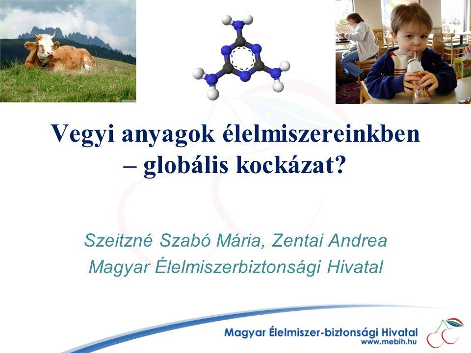 Vegyi anyagok élelmiszereinkben – globális kockázat? Szeitzné Szabó Mária, Zentai Andrea Magyar Élelmiszerbiztonsági Hivatal