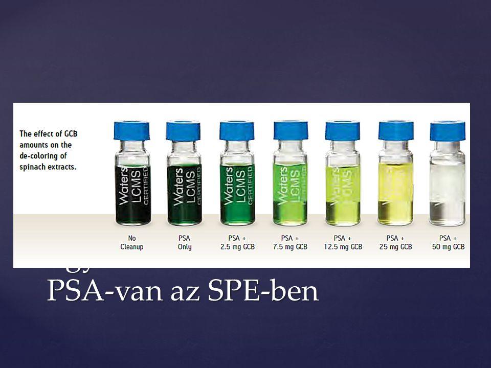 Egyes mintáknál nem csak PSA-van az SPE-ben