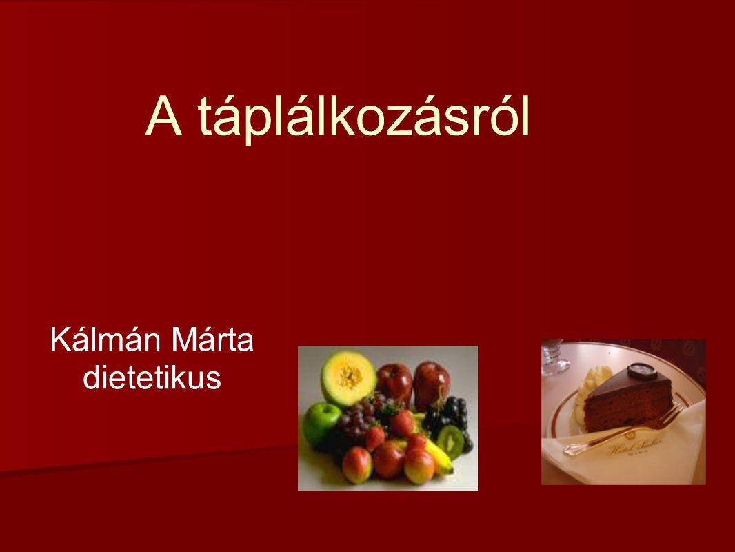 A táplálkozásról Kálmán Márta dietetikus