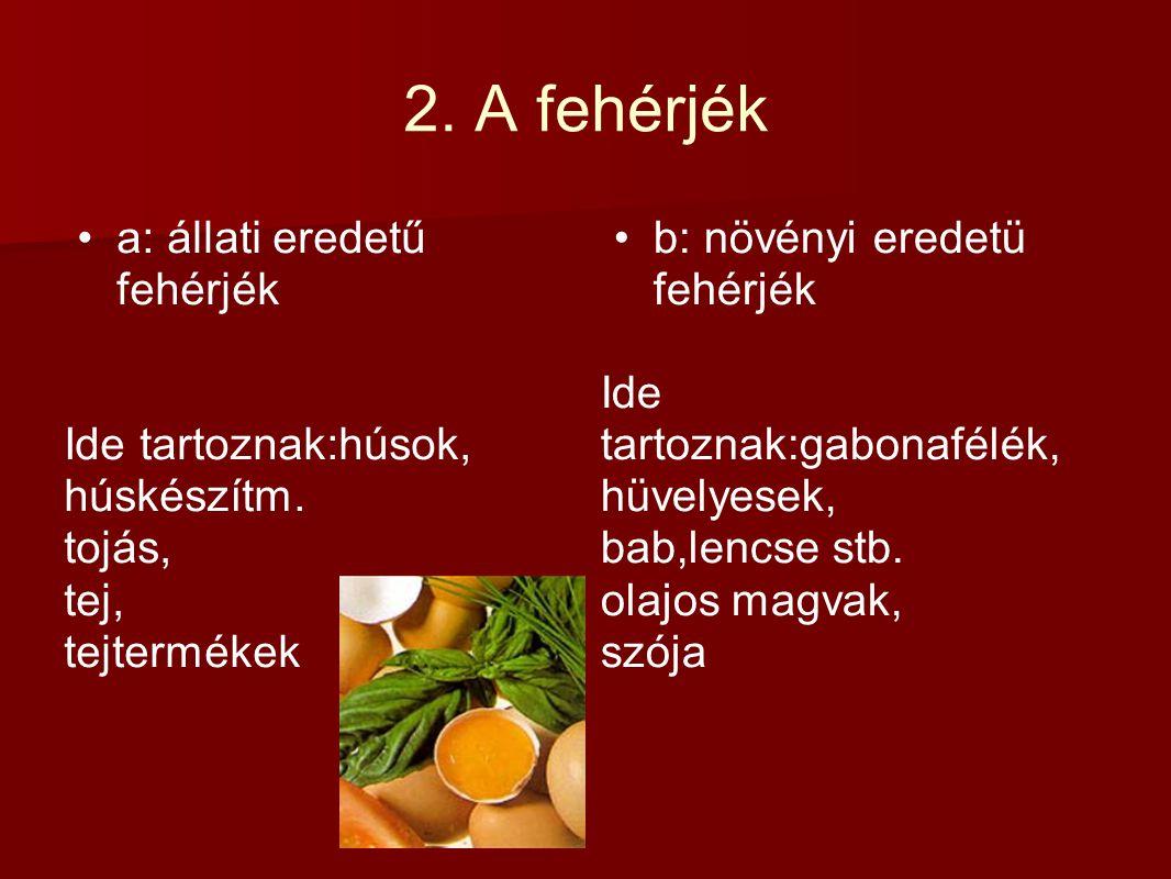 3.A zsírok Telített zsírsavak pl.:disznó zsír, húsok,húskészítm.