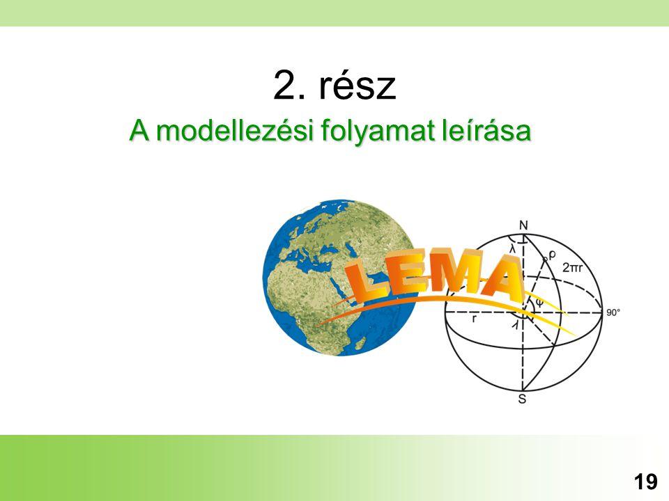 2. rész A modellezési folyamat leírása 19