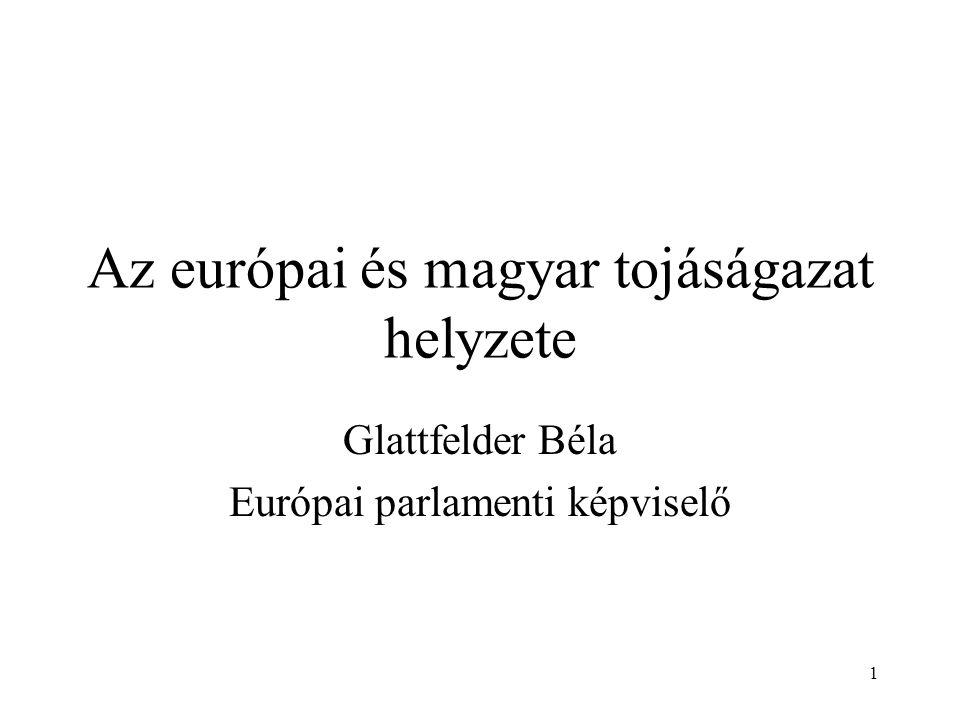 1 Az európai és magyar tojáságazat helyzete Glattfelder Béla Európai parlamenti képviselő
