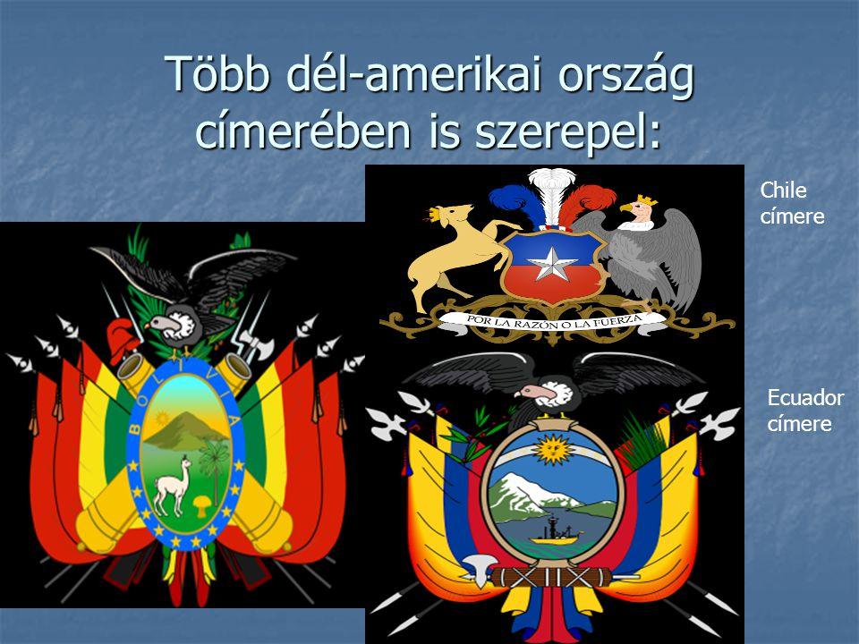Több dél-amerikai ország címerében is szerepel: Chile címere Ecuador címere